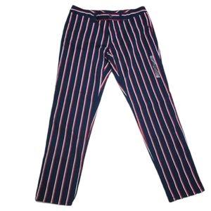Tommy Hilfiger ankle pants striped stretch slim
